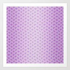 Purple Magic Mermaid Scales Art Print