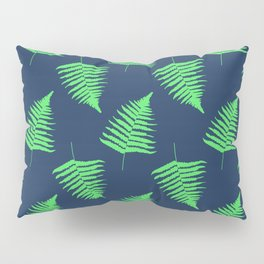 Navy and Lime Fern Pattern Pillow Sham