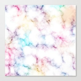 Rainbow Marble Pattern Canvas Print