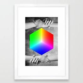RGB CUBE Framed Art Print