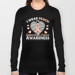 I Wear Peach For Gynecologic Cancer Awareness Long Sleeve T-shirt