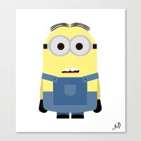 minion Canvas Prints featuring Minion by finkledink1997