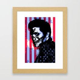 EVIL ELVIS Framed Art Print