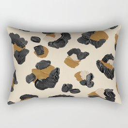 Leopard Print – Neutral Gold Light Palette Rectangular Pillow