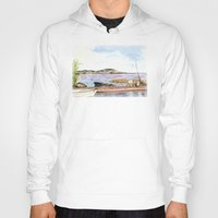 fishing Hoodies featuring Fishing by Vargamari