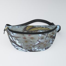 Butterfly on Cherry Tree Fanny Pack