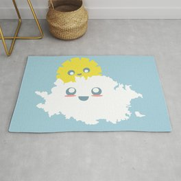 Sun and Cloud Friends Rug