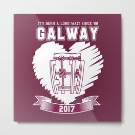 All Ireland Hurling Champions: Galway (Maroon/White) Metal Print
