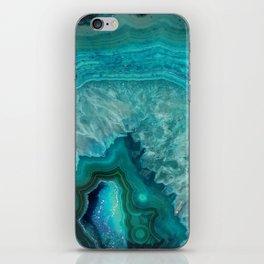 Teal Agate iPhone Skin