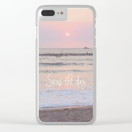 Seas the Day Clear iPhone Case