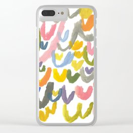 Abstract Letterforms 1 Clear iPhone Case