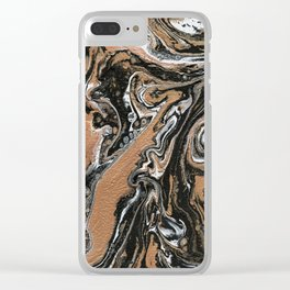 Fluid Gold - Abstract, acrylic, art painting Clear iPhone Case