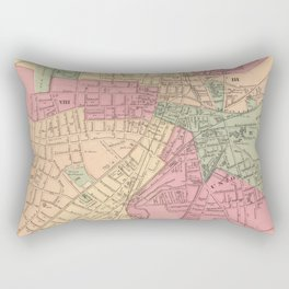 Vintage Map of Worcester MA (1871) Rectangular Pillow