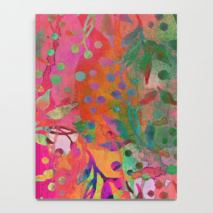 Tropical Summer colorful botanical pattern Notebook