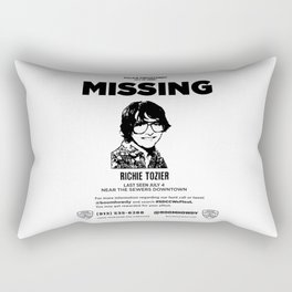 missing richie tozier Rectangular Pillow