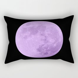 LAVENDER MOON // BLACK SKY Rectangular Pillow
