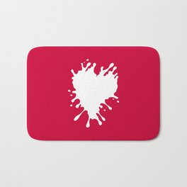 Splatter Heart Bath Mat