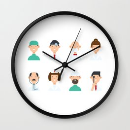 We Love All Doctors Wall Clock