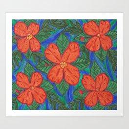 Luau Flower Print Art Print