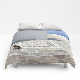 The Cat by The Aegean Sea on Milos Comforters