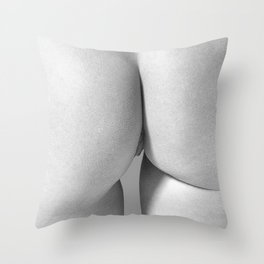 Imperfect Symmetry in a woman body Throw Pillow