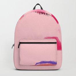 Beautiful Pink Face Watercolor Backpack