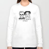 ahs Long Sleeve T-shirts featuring AHS by ☿ cactei ☿