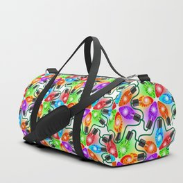 Tie Dye Holiday Lights Duffle Bag