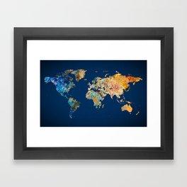 World Map 11 Framed Art Print