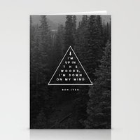 woods Stationery Cards featuring Woods -- Bon Iver by Zeke Tucker
