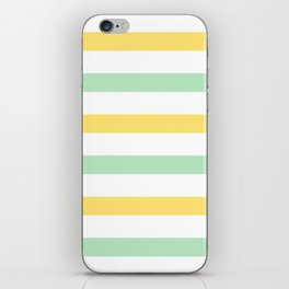 Yellow and Mint Stripes iPhone Skin