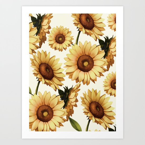 SUNFLOWERS 3 Art Print