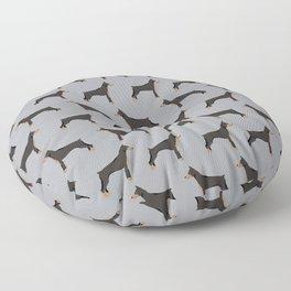 Doberman Pinscher owners gifts home decor art print dog art pet portrait Floor Pillow