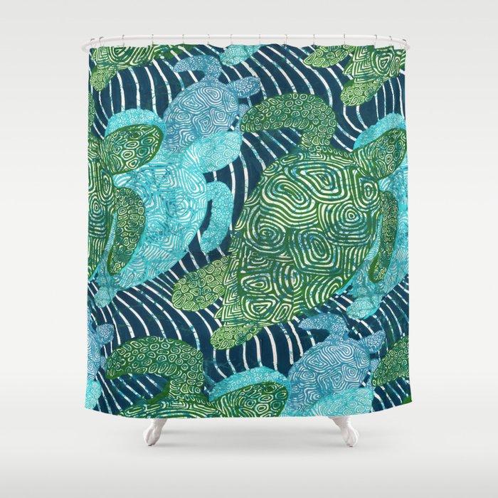 Sea Turtles Shower Curtain By Ariadne