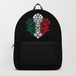 Aztec Warrior Sculpture - Mexican Ancestors - Mexico Roots Backpack