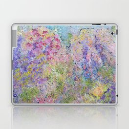 Spring Hydrangeas, Pastel Abstract, Modern Painting Laptop & iPad Skin