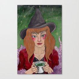 Tea Reading Canvas Print