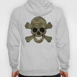 Camouflage Skull And Crossbones Hoody