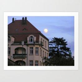 Heidelberg Moon Art Print
