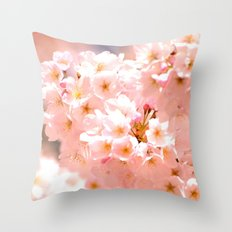Pretty Pink Spring Blossoms :) Throw Pillow