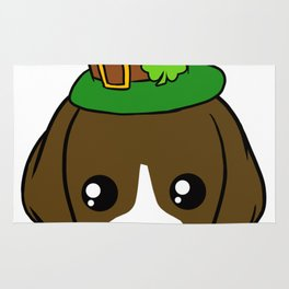 Irish Dog - St. Patrick's Day Shamrock Hat Rug