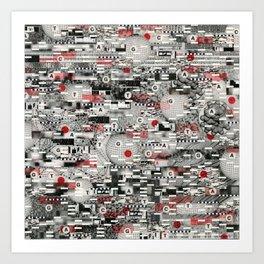 The Flaw Advantage (P/D3 Glitch Collage Studies) Art Print