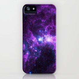 Purple Galaxy iPhone Case