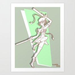 Gamer Soul Fighter Line - Noel Art Print