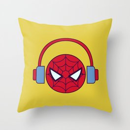 Spider-man Homecoming Minimalist Poster - Headphones Throw Pillow