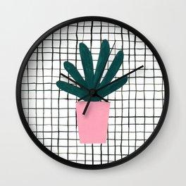 Plant Pot Wall Clock