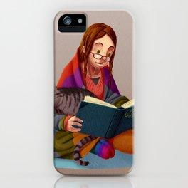 Book, Tea , Cats = perfect night iPhone Case