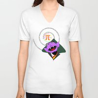 pi V-neck T-shirts featuring Count Pi by tuditees