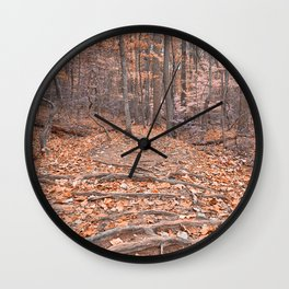 Pastel Fantasy Forest Trail Wall Clock