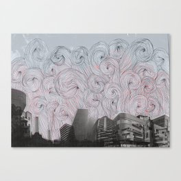 Burning Down The City Canvas Print